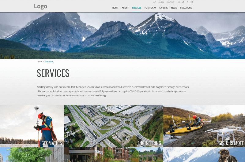Engineering services website